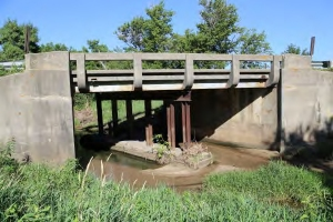 Old Buchanan County Short Span Bridge before Demoltion
