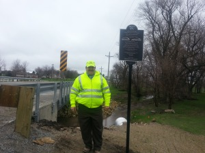 Buchanan County (Iowa) Engineer Brian Keierleber, P.E. stands by the new Jesup South Bridge.