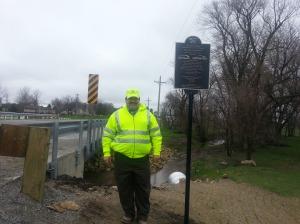 Buchanan County (Iowa) Engineer Brian Keierleber, P.E. stands by the new Jesup South Bridge.