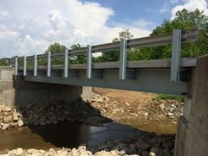 Green Valley Muskingum County completed bridge